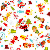 Kids Christmas wallpaper. Royalty Free Stock Photo