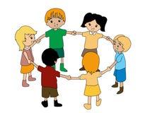 Kids in Circle Royalty Free Stock Image