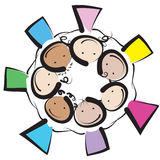 Kids circle Royalty Free Stock Photos