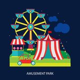Kids circus fun fair illustration vector Stock Photo