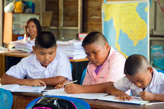 Kids in class of elementary school, Thailand Stock Images