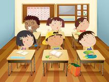 Kids in classroom Royalty Free Stock Photography