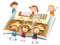 Kids in classroom Royalty Free Stock Photo