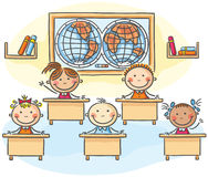 Kids in the classroom Stock Image