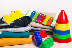 Free Kids Clothes And Toys Royalty Free Stock Photos - 88174028