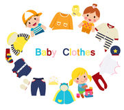 Kids clothes Royalty Free Stock Photography