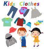 Kids clothes Royalty Free Stock Images