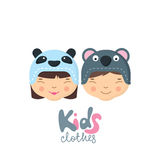 Kids clothes logo, label, badge, tag design elements. Royalty Free Stock Images
