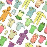 Kids clothes pattern vector illustration