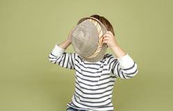 Kids Clothing and Fashion: Child with Fedora Hat Stock Photos