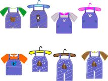 Kids clothing illustrations royalty free stock photography
