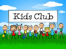 Kids Club Indicates Free Time And Apply Royalty Free Stock Image
