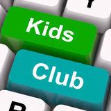 Kids Club Keys Mean Childrens Playing Royalty Free Stock Images