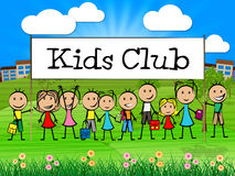 Kids Club Means Games Play And Childhood Stock Images