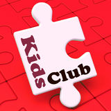 Kids Club Puzzle Shows Children's Or Toddlers Play Royalty Free Stock Photography