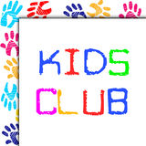Kids Club Represents Toddlers Association And Childhood Stock Images