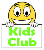 Kids  Club On Sign Means Children's Activities Stock Photos