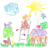 Kids Colored World Royalty Free Stock Photos