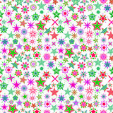 Kids colorful cartoon stars pattern Royalty Free Stock Images