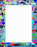 Kids Colorful Themed Frame Border Royalty Free Stock Photos