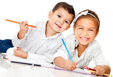 Kids coloring Stock Photography