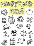 Kids Colouring Page Royalty Free Stock Photography