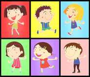 Kids on colours vector illustration