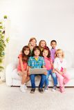 Kids with computer Royalty Free Stock Image