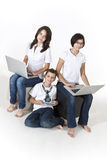 Kids on the computers Stock Images