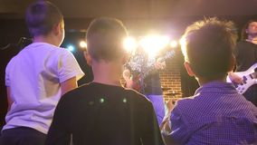 Kids at concert Royalty Free Stock Image