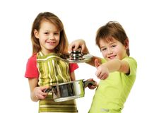 Kids cooking Royalty Free Stock Photo