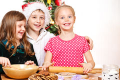 Kids cooking Royalty Free Stock Photography