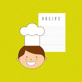 Kids cooking design Stock Images