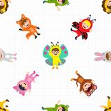 Kids costume wallpaper. This is kids costume wallpaper design Royalty Free Stock Photography