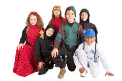 Kids in costumes Royalty Free Stock Photo