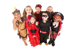 Kids in costumes Stock Image