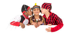 Kids with costumes Royalty Free Stock Photo