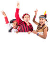 Kids with costumes Stock Photo