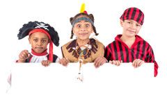 Kids with costumes Stock Photography