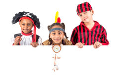 Kids with costumes Royalty Free Stock Photos
