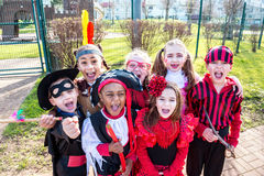 Kids in costumes Stock Images