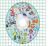 Kids cover CD Stock Photo