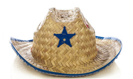 Kids cowboy hat on white Royalty Free Stock Photo