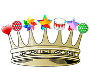 Kids crowning glory. Crown decoration Stock Images