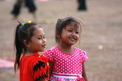 Kids in Dance and attraction of traditional Reog Ponorogo Royalty Free Stock Photo