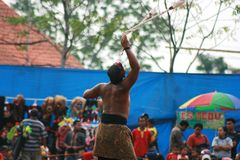 Kids in Dance and attraction of traditional Reog Ponorogo Royalty Free Stock Photography