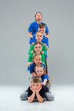 The kids dance school, ballet, hiphop, street, funky and modern dancers Royalty Free Stock Photos