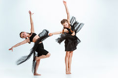 The kids dance school, ballet, hiphop, street, funky and modern dancers Royalty Free Stock Image
