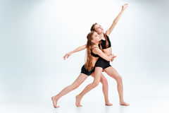 The kids dance school, ballet, hiphop, street, funky and modern dancers royalty free stock images