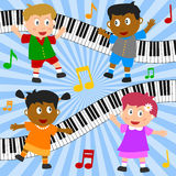 Kids Dancing Composition stock illustration